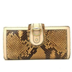 Auth Gucci Python Leather Long Bifold #N3137C91